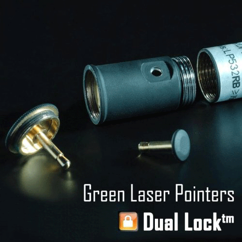 Dual-Lock Green Laser Pointer