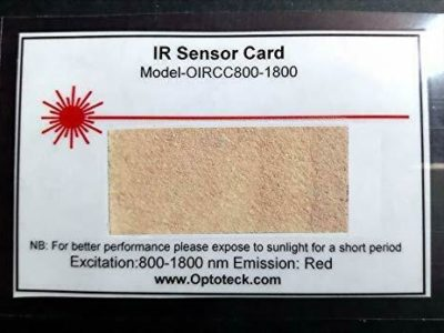 IR Laser Detection Card